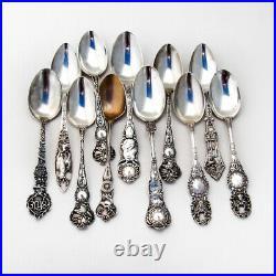 Elks Lodge BPOE 11 Souvenir Spoons Collection Sterling Silver