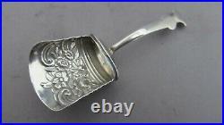 English Antique Sterling Silver Tea Caddy Scoop B'ham/1810 Samuel Pembelton