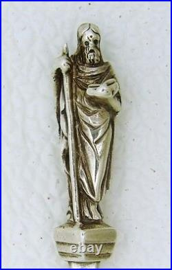 English Sterling Silver Apostle Rattail SERVING Spoon Saint Thomas London 1871