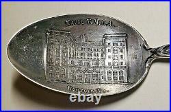 Estate Sterling Watson Naval Y. M. C. A. Souvenir Spoon-5 1/2-norfolk, Va-usn