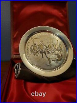 First Continental Congress 1774 Commemorative Sterling Silver Plate Danbury Mint