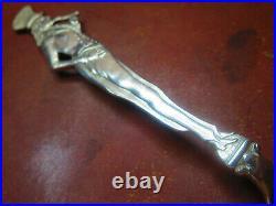 Full Figural Antique Uncle Sam 5 5/8 Sterling Souvenir Spoon Excellent Crisp