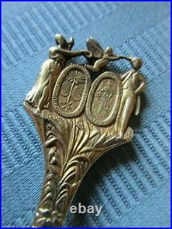GORHAM 1891 CHARLESTON SC Souvenir SPOON STERLING SILVER Ft Sumter St Michael's