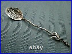 GORHAM 5 O'clock Spoon NARRAGANSETT Style STERLING Fish Shell Virginia Beach
