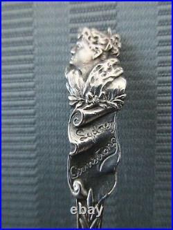 GORHAM Souvenir Spoon Actress SYDNEY ARMSTRONG STERLING SILVER. 925 Rare NM
