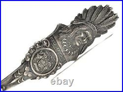 Genesee Falls ROCHESTER New York RED JACKET Native Indian Sterling Silver Spoon