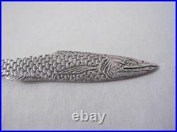 Gorham Naragansett Sterling Silver Souvenir Spoon Fish Shell Asbury Park Nj