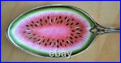Gorham Sterling Black Americana Spoon Enamel Watermelon