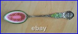 Gorham Sterling Silver and Enamel Watermelon Spoon