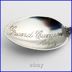 Grand Canyon Souvenir Spoon Female Canoe Handle Watson Sterling Silver