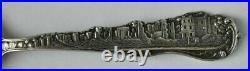 Great San Francisco CA Fire 1906 Skyline Sterling Souvenir Spoon