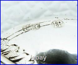 Hanau German Sterling Silver Rattail Spoon Mary Baby Jesus John Stag Cross