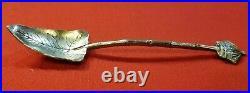 Hawaiian Souvenir Spoon Enamel Leaf & Crown Gorham Sterling Silver Honolulu