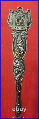 Hawaiian Souvenir Spoon Sterling Silver Honolulu Hawaii Pineapple Joseph Mayer