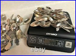 Huge Lot Of Sterling Silver Spoons And Souvenir. 1902 Grams. Few 830s. Not Scrap