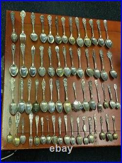 Huge Wholesale Lot Of 1000+ Grams Sterling Souvenir Spoons 59 Total! #3