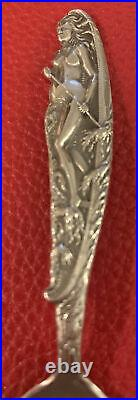 Indian Legend Nude Woman in Canoe Sterling 4.3 Spoon Grand Canyon Arizona