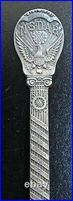 J E Caldwell Sterling NSDAR Memorial Continental Hall Souvenir Spoon