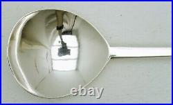 LARGE heavy Dutch Sterling Silver Serving Spoon Marks c1890 Acorn finial 5 oz