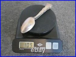 Lot(4) Antique Sterling Silver Zodiac Spoons Wallace/gorham 109 Gr Pisces Libra