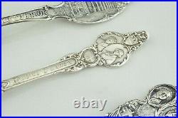 Lot of 3 Vintage Sterling Silver Mt. Vernon George & Martha Souvenir Spoon Fork