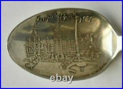 Luna Park N. Y. New York From North River Skyline Sterling Souvenir Spoon