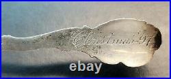 Montana Gold Mining Sterling Silver Souvenir Spoon Last Chance Gulch Helena, MT