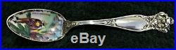 New Orleans Mardi Gras enameled Sterling Silver Souvenir spoon