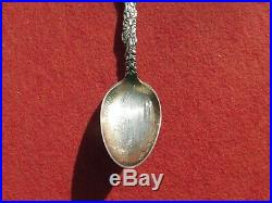 Oakland California Lake Merritt Sterling Silver Souvenir Spoon Engraved Angel