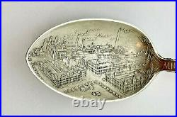 Pabst Beer Factory Milwaukee Wisconsin Sterling Souvenir Spoon
