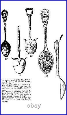 RARE Cripple Creek Colorado Gold Mine Figural Sterling Silver Souvenir Spoon
