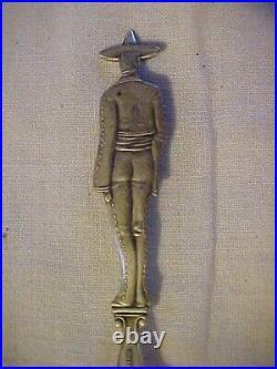 RARE LDA Sterling Full Figure MEXICAN BANDITO Souvenir Spoon TIJUANA Mexico