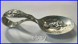 RARE Reed & Barton Bent Handle Baby Spoon Sterling Silver