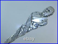 RARE Sterling DURGIN Souvenir Spoon from GEORGE W CHILDS to Mrs W. C Mac Bride