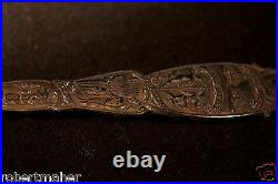 RARE Sterling Silver Queen Victoria Commemorative Spoon Ahronsberg Brothers 1896