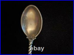 Rare Antique Sterling Silver Souvenir Spoon Harvard Football 1895 Cambridge MA
