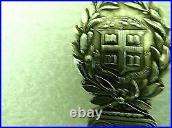 Rare Antique Sterling Silver Souvenir spoon Brown University & Nobel Laureate
