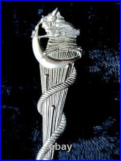 Rare Sterling Silver Halloween Souvenir Collectable Spoon Daniel Low C. 1890