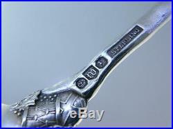 Rare Sterling WATSON Souvenir Spoon SANTA CLAUS figural MERRY CHRISTMAS XMAS