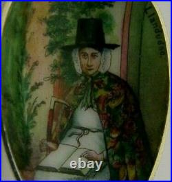 STERLING SILVER ENAMEL PICTURE BOWL WELSH WALES SOUVENIR SPOON c1910 LLANDUDNO