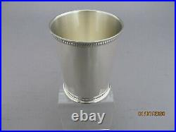STERLING SILVER MINT JULEP CUP WITH BEADED BORDER KY look alike