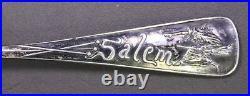 Salem Witch #1, Daniel Low & Durgin (1891) Sterling Silver Souvenir Fruit Spoon