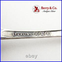 Salinas Souvenir Candy Nut Spoon Pond Lily Handle Paye Baker Sterling Silver