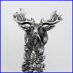 Santa Barbara Souvenir Spoon Elk Handle Codding Heilborn Sterling Silver