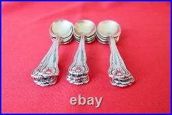 Set of 12 Spoons Bigelow Kennard & Company Sterling Silver Vermeil Bowl (#1270)