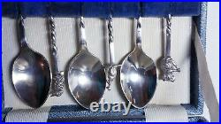 Set of 6 Australian Animal Sterling Silver Spoons by Prouds Jewelers