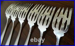 Six (6) Manchester Sterling Silver Dessert Forks in the Manchester Pattern No Mo