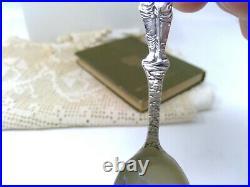 Sterling. 925 Silver Souvenir Spoon Juneau Full Indian & Full Miner Figure
