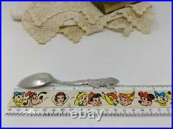 Sterling. 925 Silver Souvenir Spoon Sand Point Idaho Kneeling Indian
