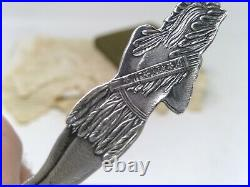Sterling. 925 Silver Souvenir Spoon Wisconsin Dells Full Indian